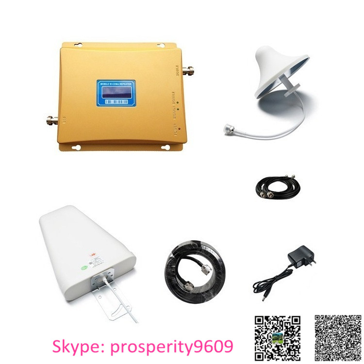 GSM 900mhz wcdma 2100mhz dual band 2g 3G mobile cellphone signal booster repeater