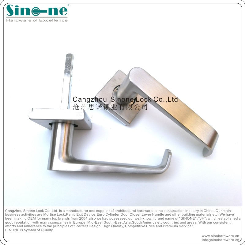 CE approved Stainless Steel 304 Euro mortise door Lever Handle heavy duty spring Fire rated EN1906 OEM factory in China