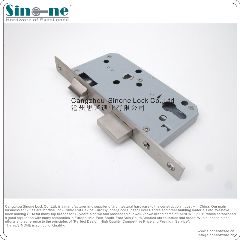 Euro standard CE fire rated Mortise sash Lock body Hafele type door lock OEM factory in China EN12209DIN18250DIN18251