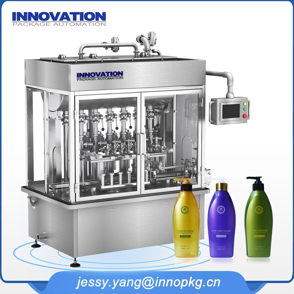 High efficiency hair shampoo conditioner filling production line
