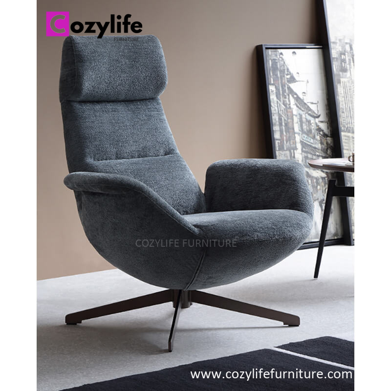 Modern design living room swivel lounge chair for sale