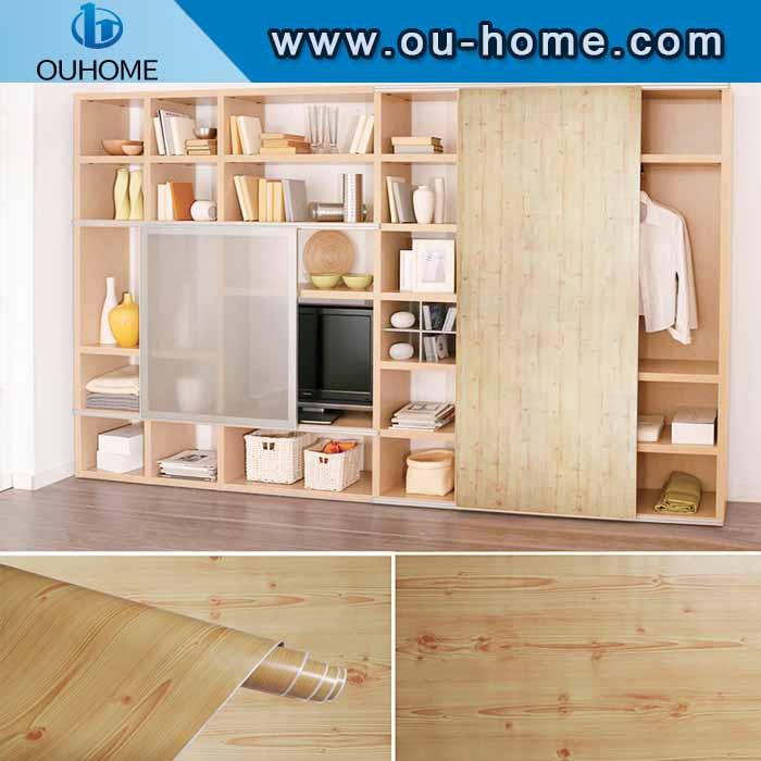 High quality decorative wood grain PVC selfadhesive sticker
