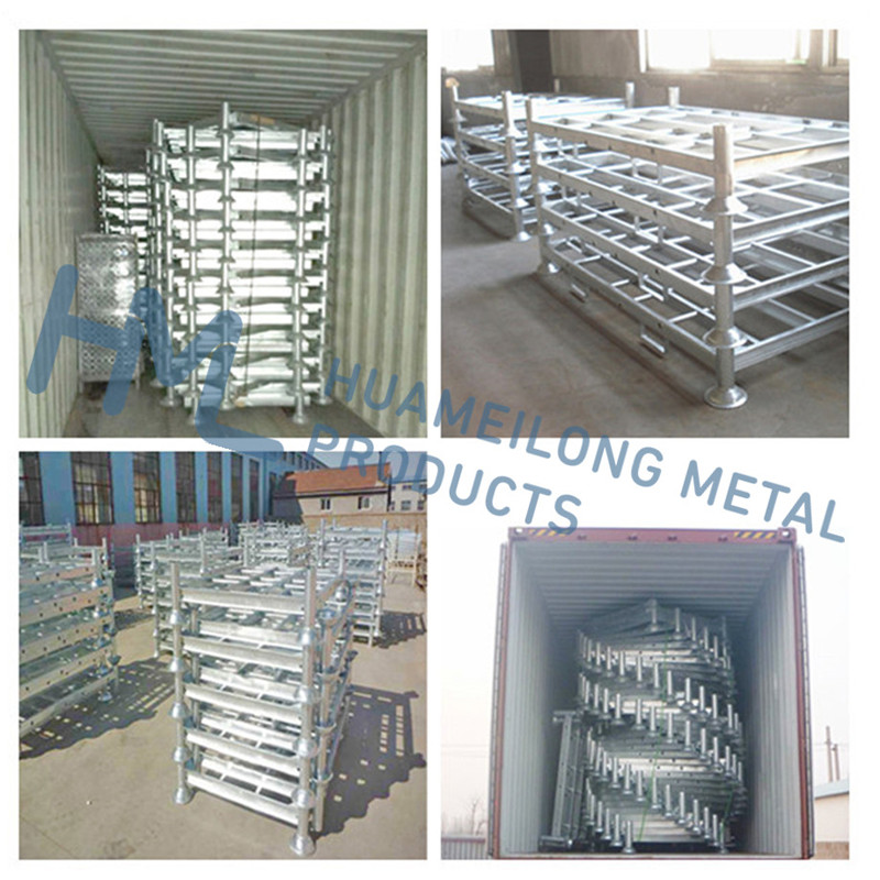 Heavy duty high quality industrial warehouse stacking hot dip galvanized steel plate pipe storage pallet rack