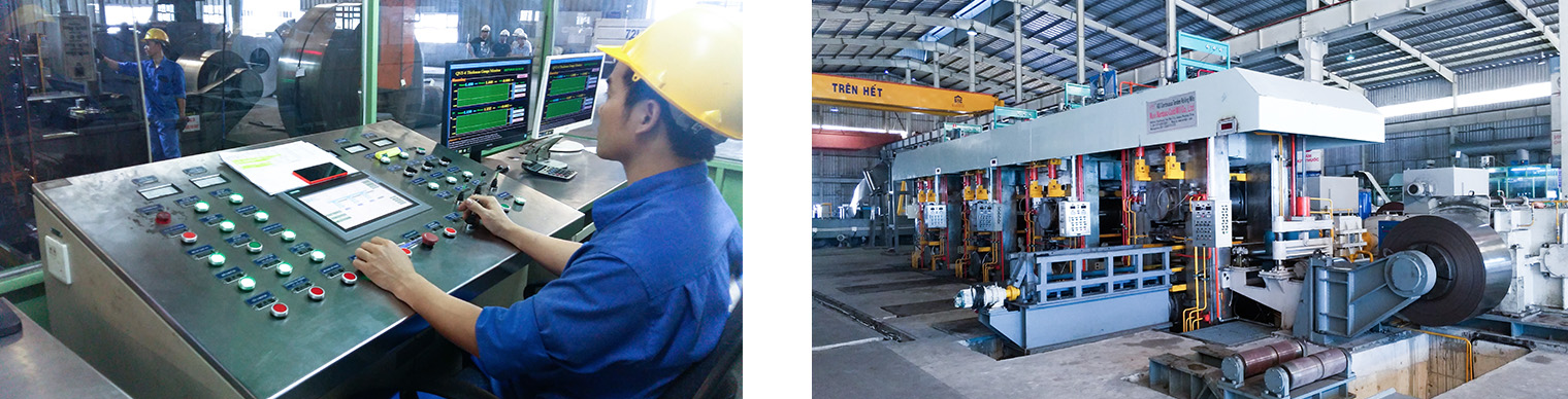 Cold rolled steel strip production line