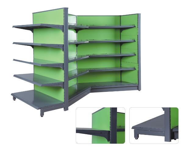 supermarket heavy duty single sided display shelf rack gondola Expositor de metal