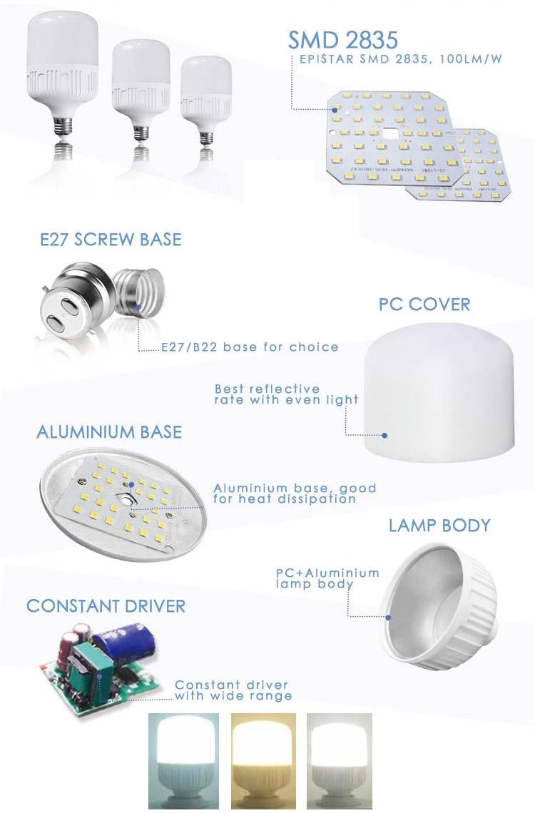 OEM EnergySaving LED T Bulb 110V220V Outdoor Household LED Lighting High Quality and Low Price