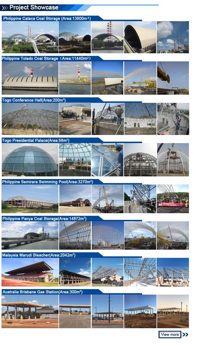 New Design Space Frame Structure Roofing Building Galvanized Steel Swimming Pool Roof Cover