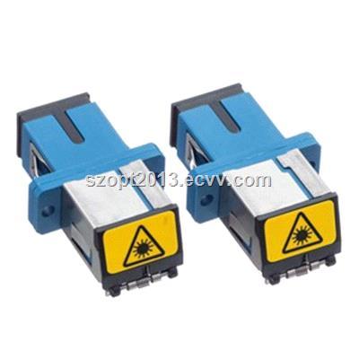 Optic fiber adapter SCSC Simplex with shutter Singlemode