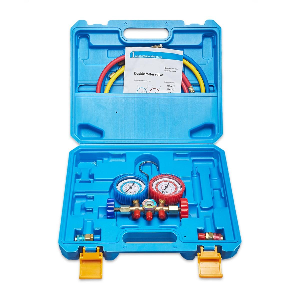 Wholesale refrigeration digital r134a manifold gauges set with Release Valve