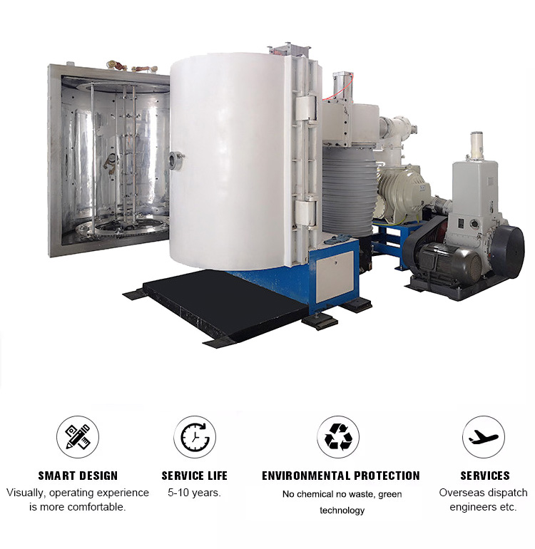 Plastic Coating Metalizing System Aluminium Evaporation Vacuum Coating Machine