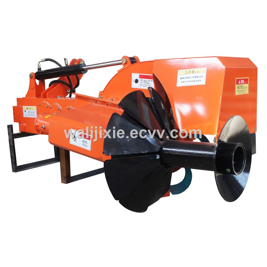High speed rice field tractor mounted ridger making machine