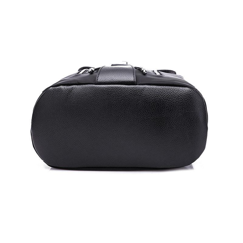 Waterproof Nylon Anti Theft Women Backpacks Female Travel Rucksack School Bags for Teenage Girls Black Drawstring bag