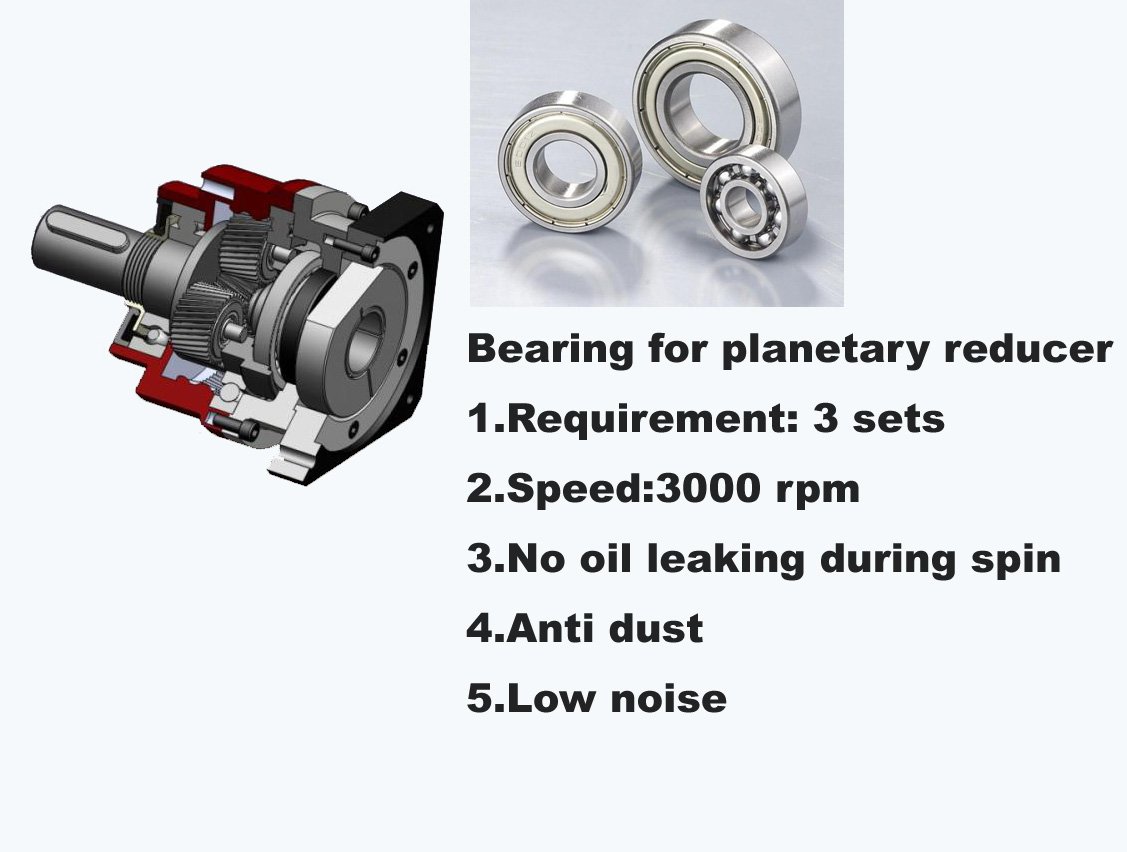 Planetary reducer bearing 6202 2RS CO HG04 50150