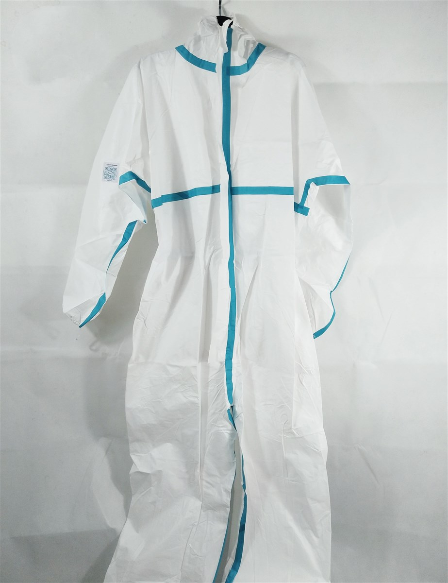 Breathable antiebola virus 50gm2 microporous type 5 6 disposable coverall