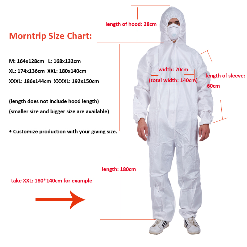 Disposable Medical Personal Protective Equipment Protective Suits