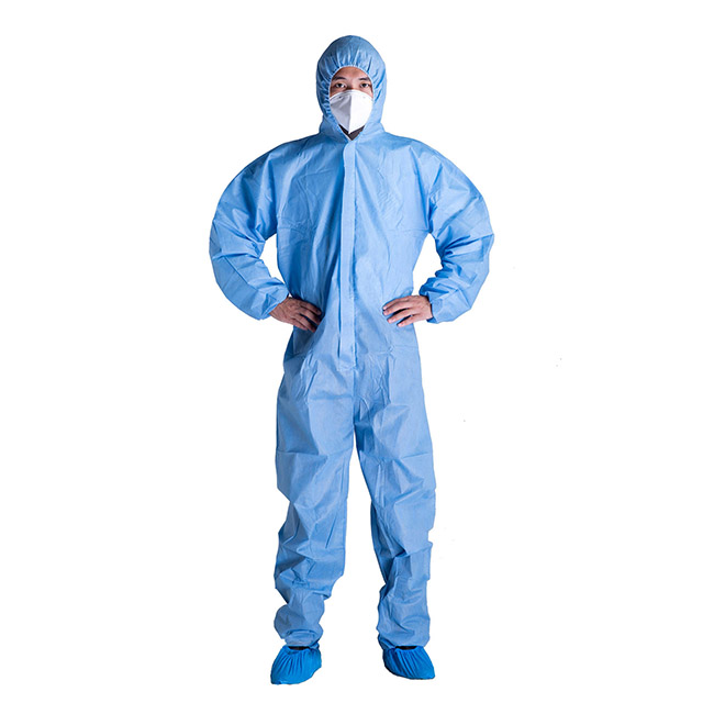 With Heat Sealed Tape Microporous Safety Chemical Hospital Protective Suit Disposable Tape Sealed Coveralls