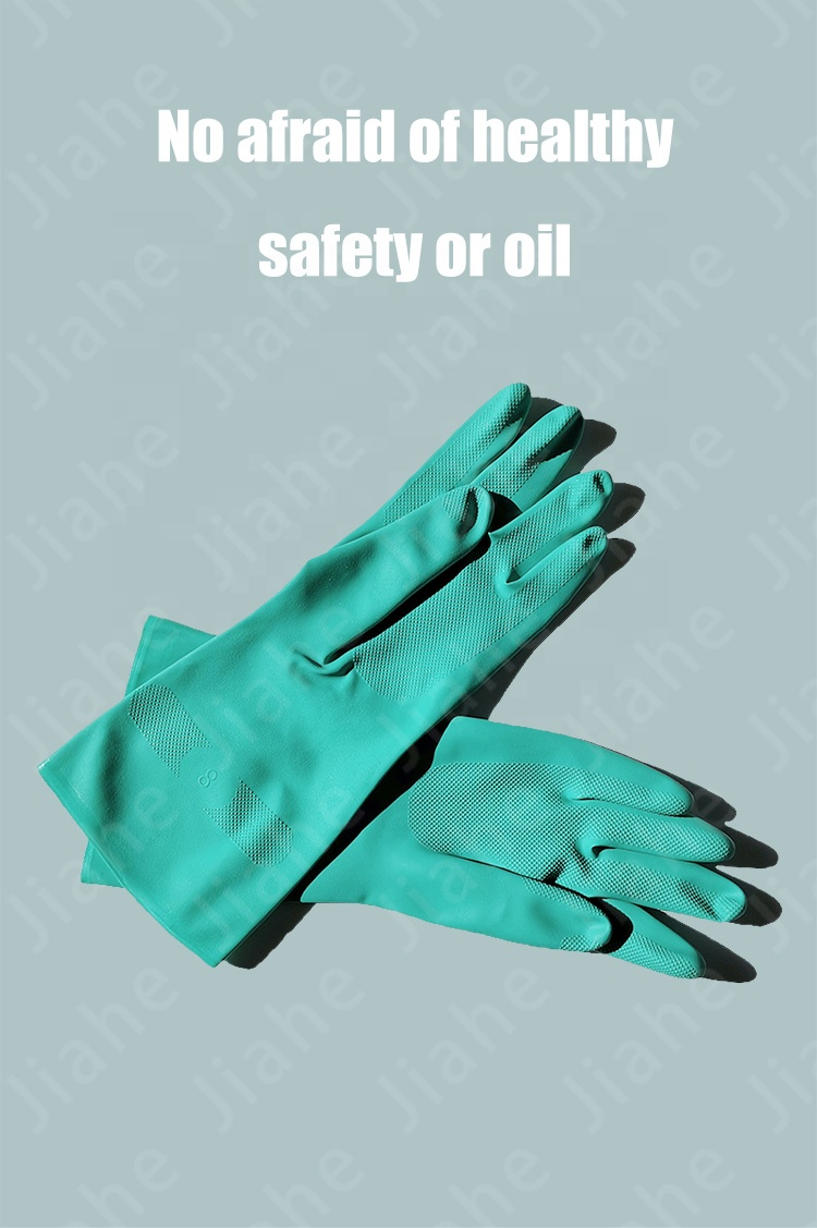 13Mil Green Medical Examination Nitrile Coated Gloves