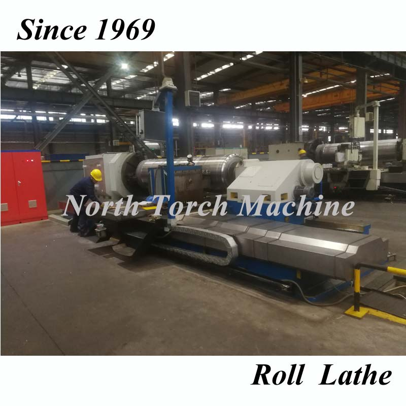 Heavy Duty Horizontal Roll Turning Lathe Machine for facinggrooving steel rollcylindershaft