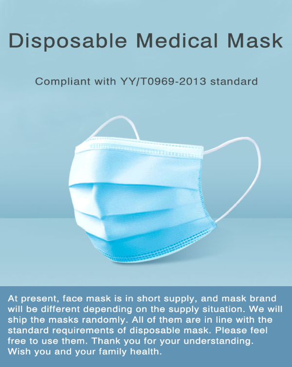 Disposable Face Mask Medical Supply 3 PLY Earloop Non Woven Mask Face Masks