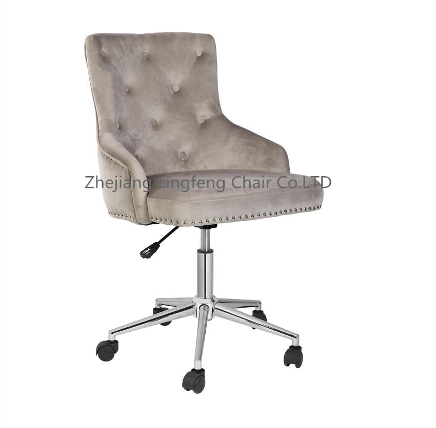 Modern living room furniture Velvet Upholstered Gold Legs leisure arm lounge chair living room chair