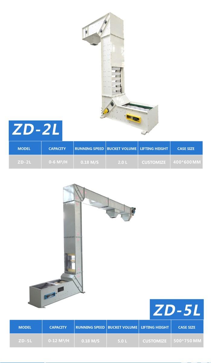 Z Type Chain Stainless Steel Grain Elevator Bucket Conveyor