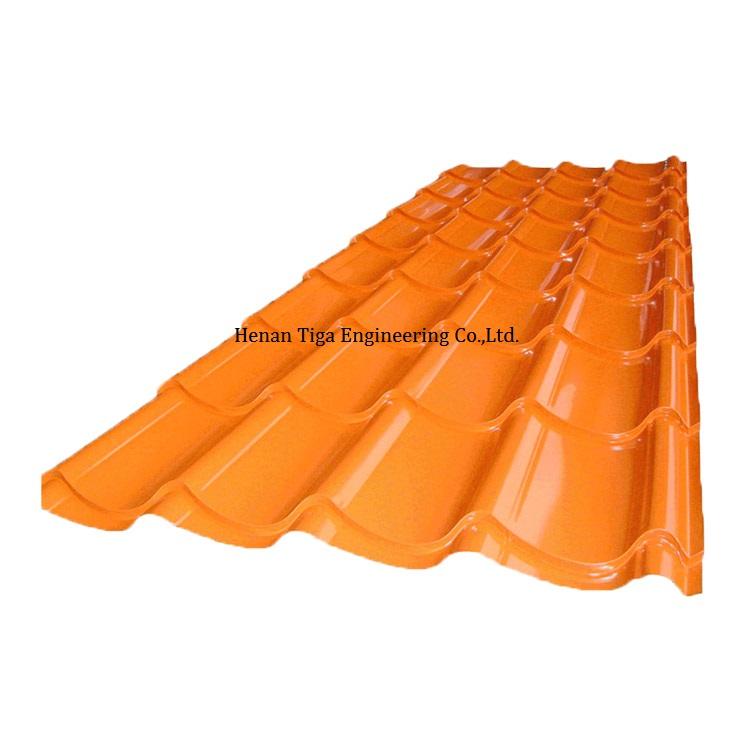 glazed prepainted metal roof sheet