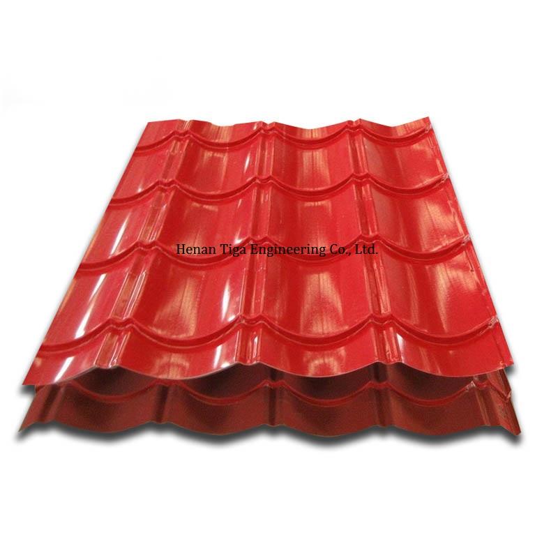 glazed prepainted galvalume metal roof sheet