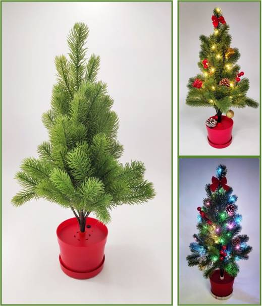 Water Activated Christmas Tree with LED Light Holiday Decoration Ornament Gift
