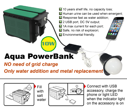 10W Aqua Powe rBank Emergency lighting mobile power supply portable source
