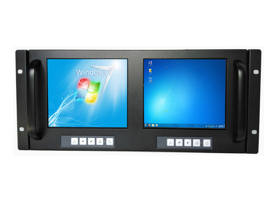 8 Inch Rackmount Monitor Dual LCD Display