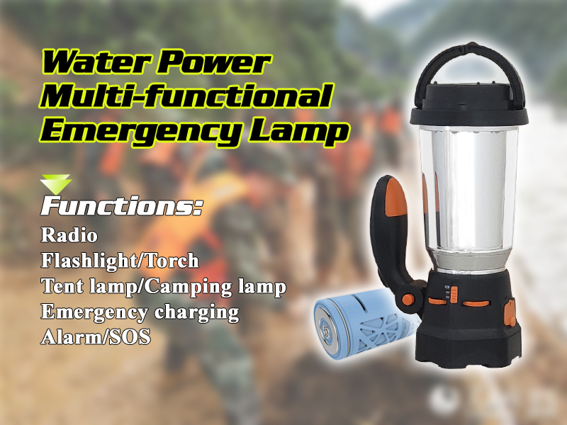 Multifunctional Emergency LED Lamp Lantern Salt Water Flashlight water cell included