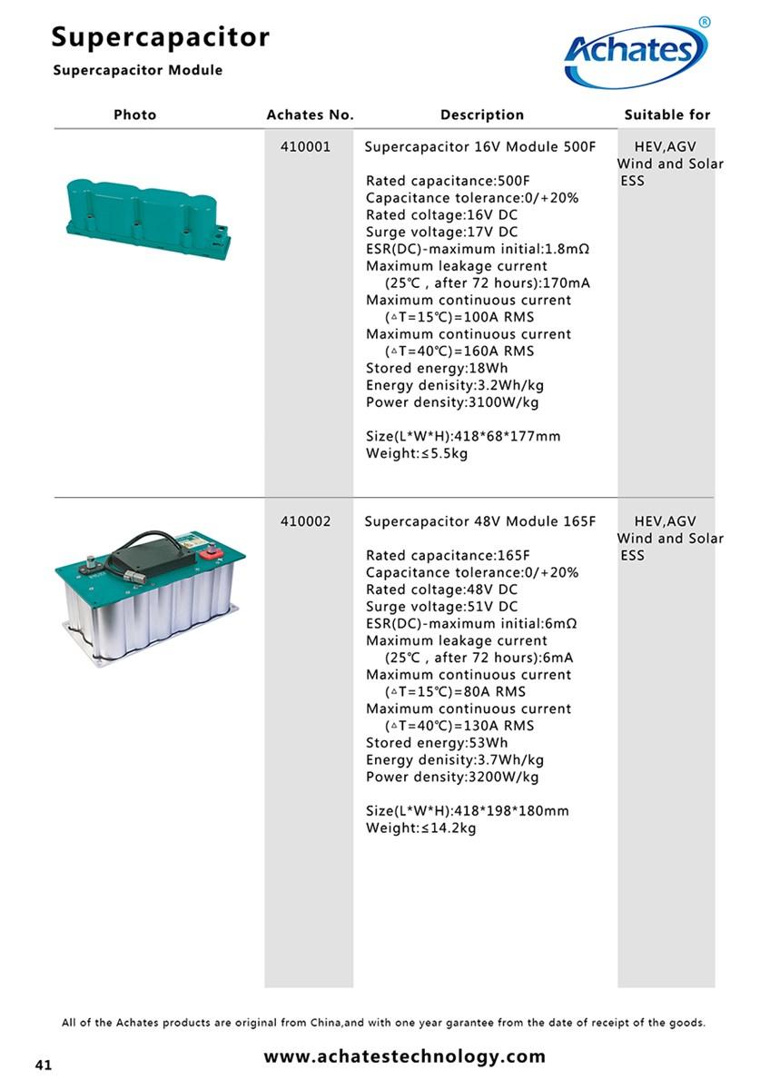 Supercapacitor 16V Module 500F
