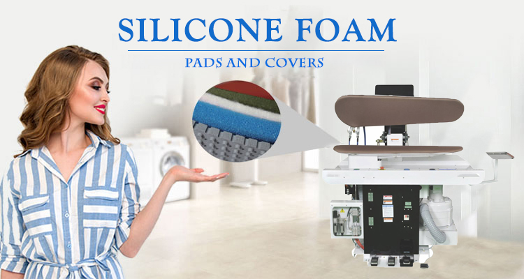 Original factory original open cell silicone foam used ironing table