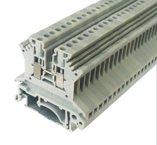 DIN Rail Terminal Block screw type and spring clamp cage typeUK15UK25UK3UK5UK6UK10UK16UK25UK50UK100UK150
