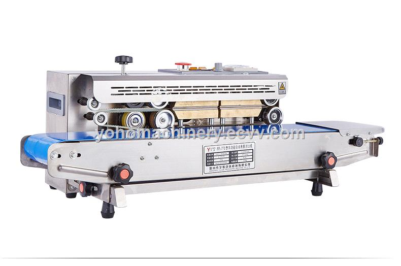 FR770 Low Price Automatic Vertical Continuous Pouch Sealing Machine Heat Bag Band Plastic Sealer Machine For Plastic Bag