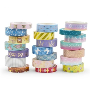 Custom printed washi tape gold foil washi tape with dispenser