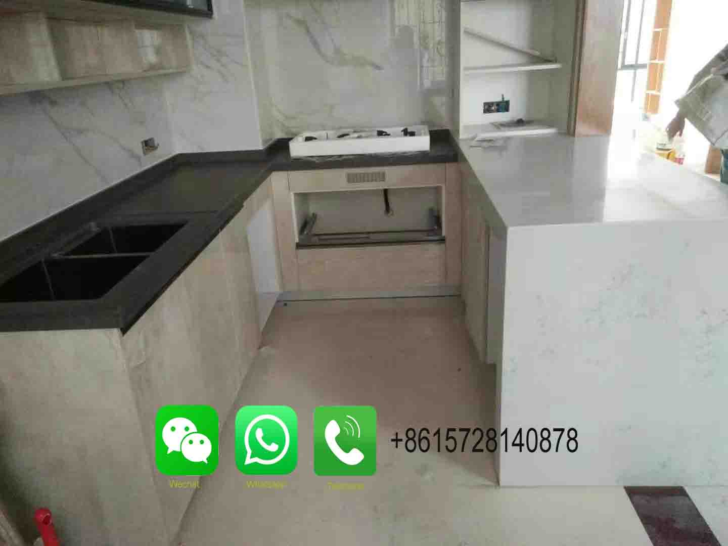 wholesale solid surface countertop material Italian white carrara marble slab vanity counter top table top for home