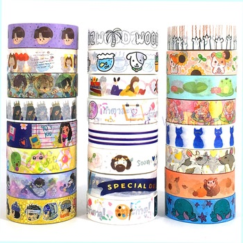Wholesale CMYK Kawaii Rose Gold Foil Mini Oem Custom Printed Decorative Washi Paper Tape With Logo