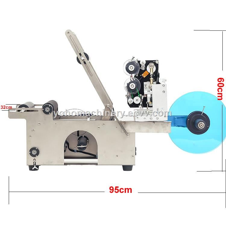 High Performance semi automatic round bottle labeling machine with code printer