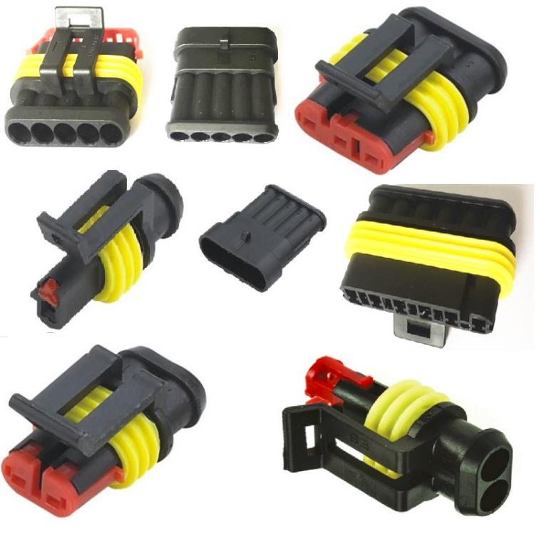 16P wire connector socket bnc connector PCB mount for car