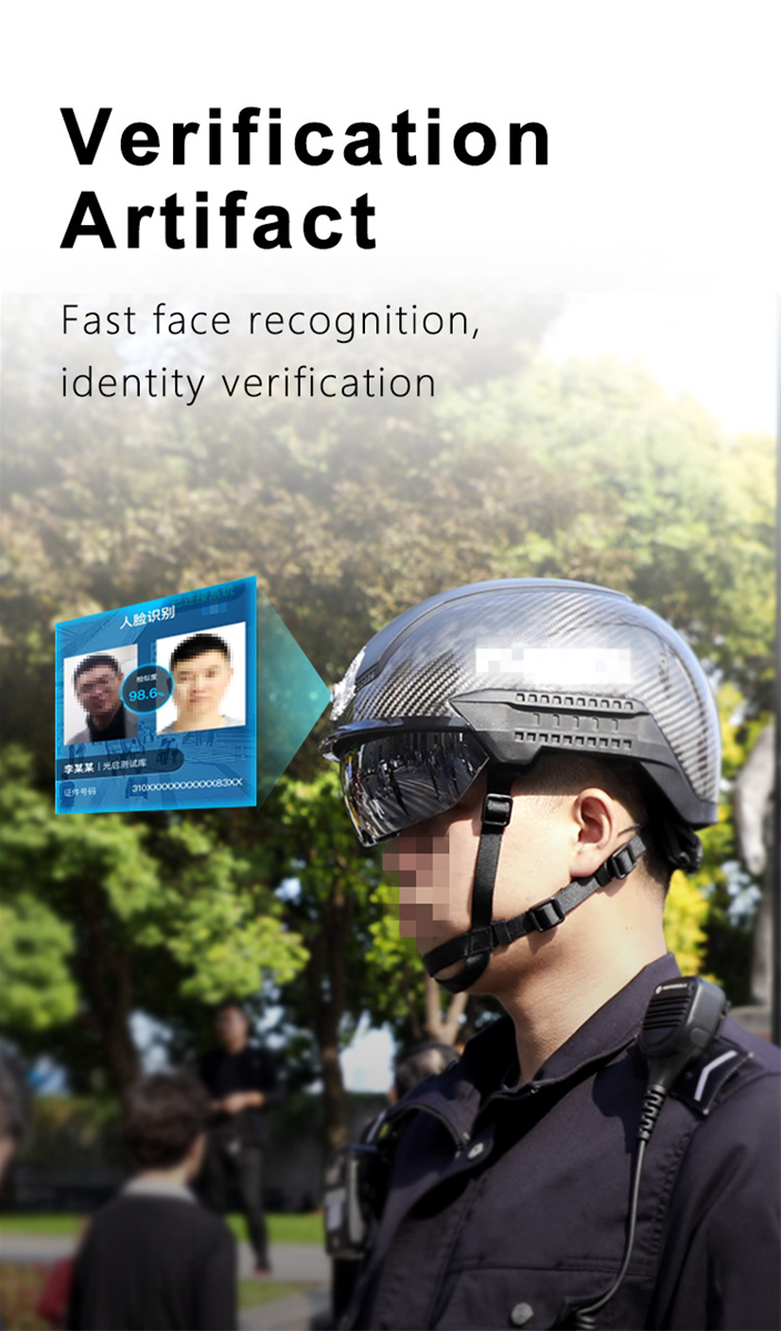 AR Chinese Police Helmet N901 AI FeverHunting Smart Networked Temperature Measuring Safety Helmet for Fever Detection