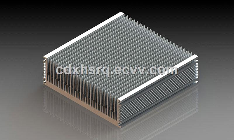Aluminium alloy extrusion heat sink for electrical vehicle power inverter solar supply water cooling thermal solution