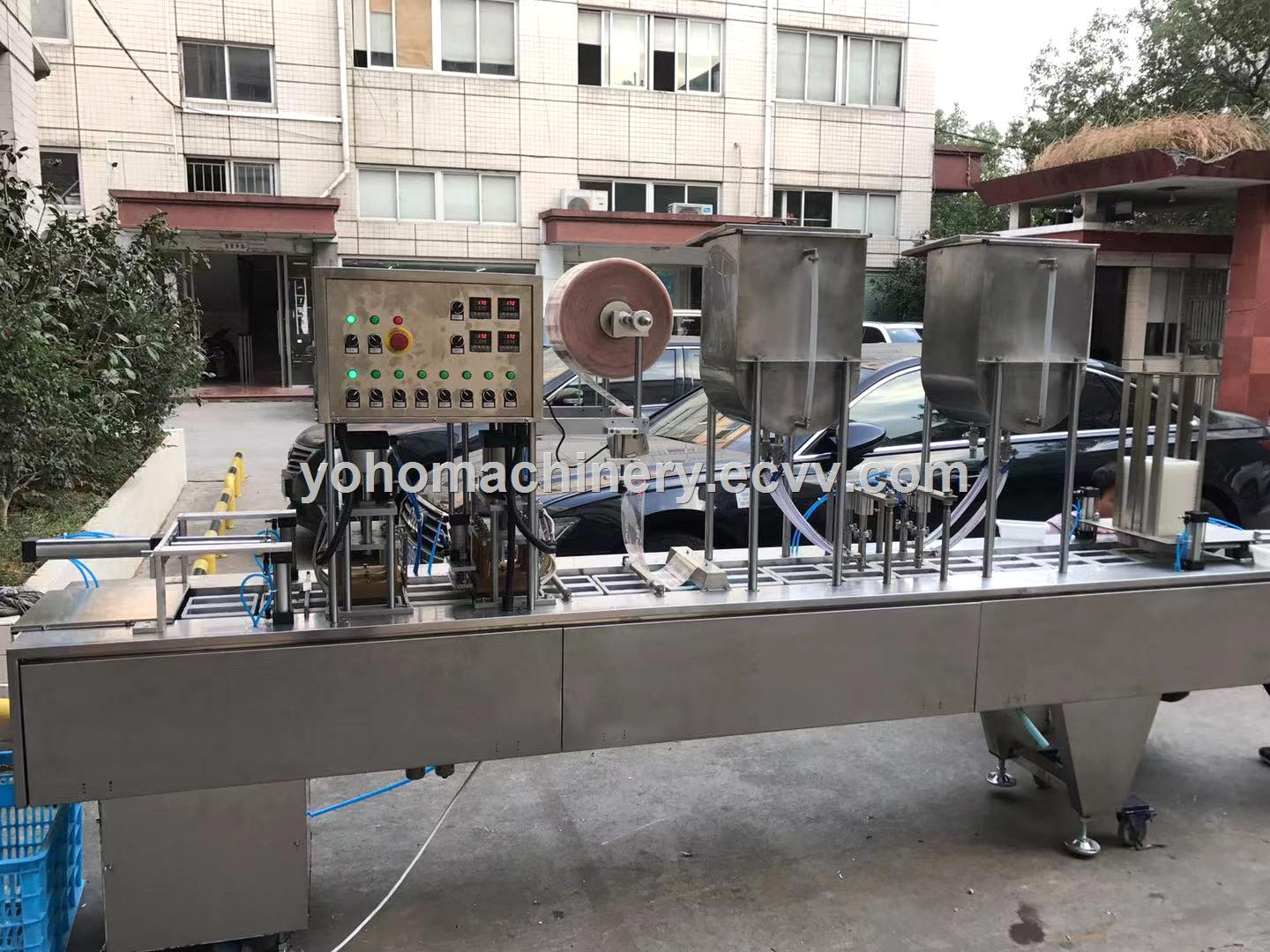 high quality line Cup Filling Sealing Machine For Yogurt Jelly Ice Cream