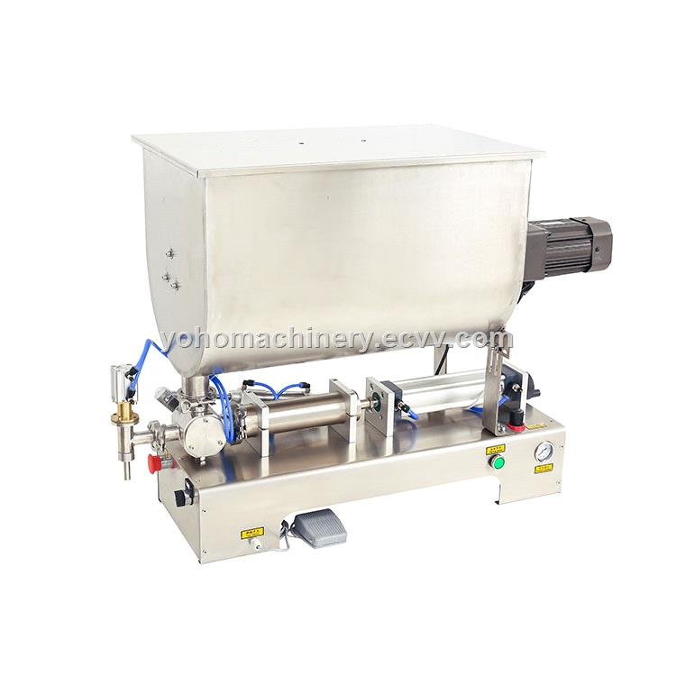 Factory Direct sales U Type Hot Paste Honey Filling Machine With Mixer Hopper