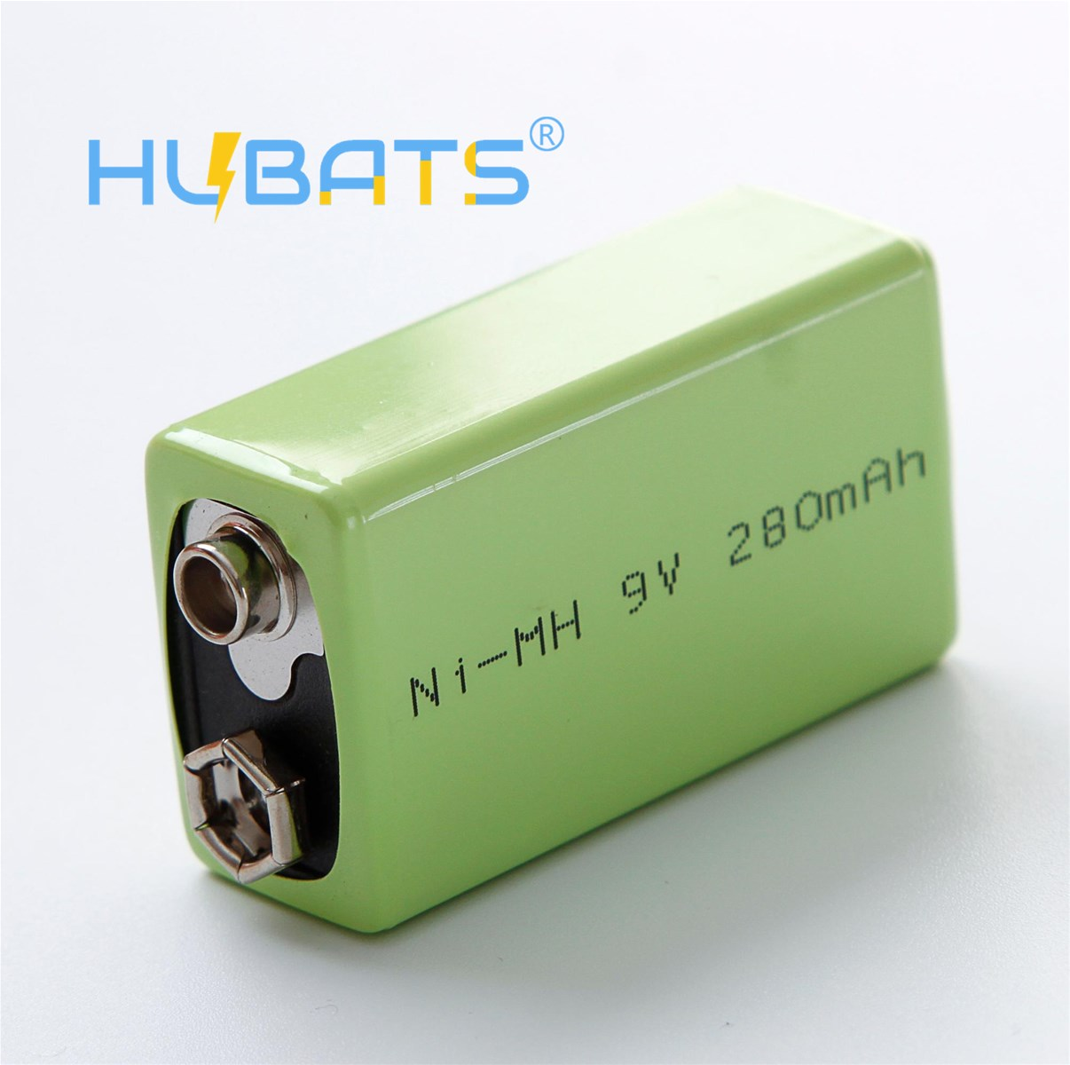 Hubats 9V 280mAh NiMH 9 Volt 280mah 6F22 Rechargeable Battery for Smoke Alarms Professional Audio