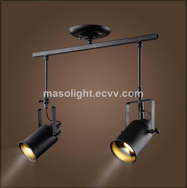 Industrial ceiling led track spot light changeable e27 bulb