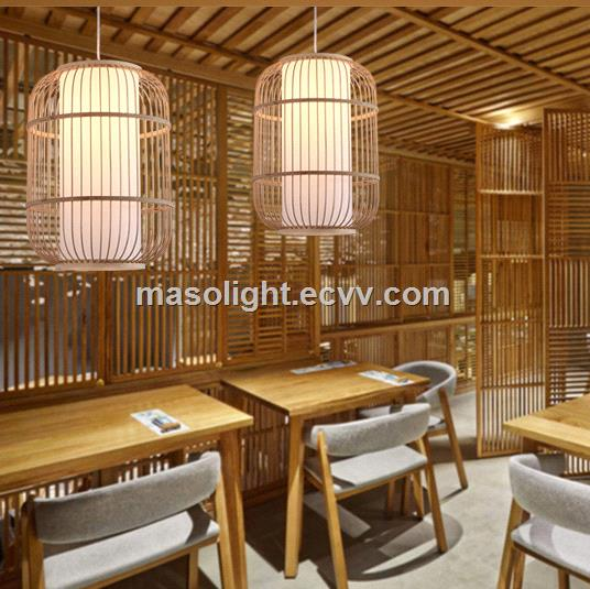 Seasonal decorations lantern hanging bamboo bird cage pendant lamp