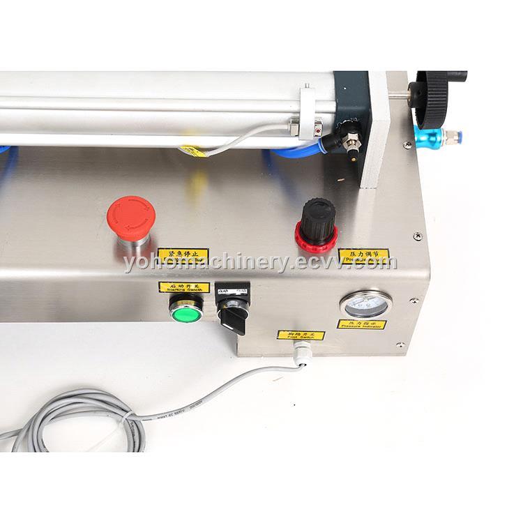 honey juice oil bottle water table top manual piston liquid filling machine