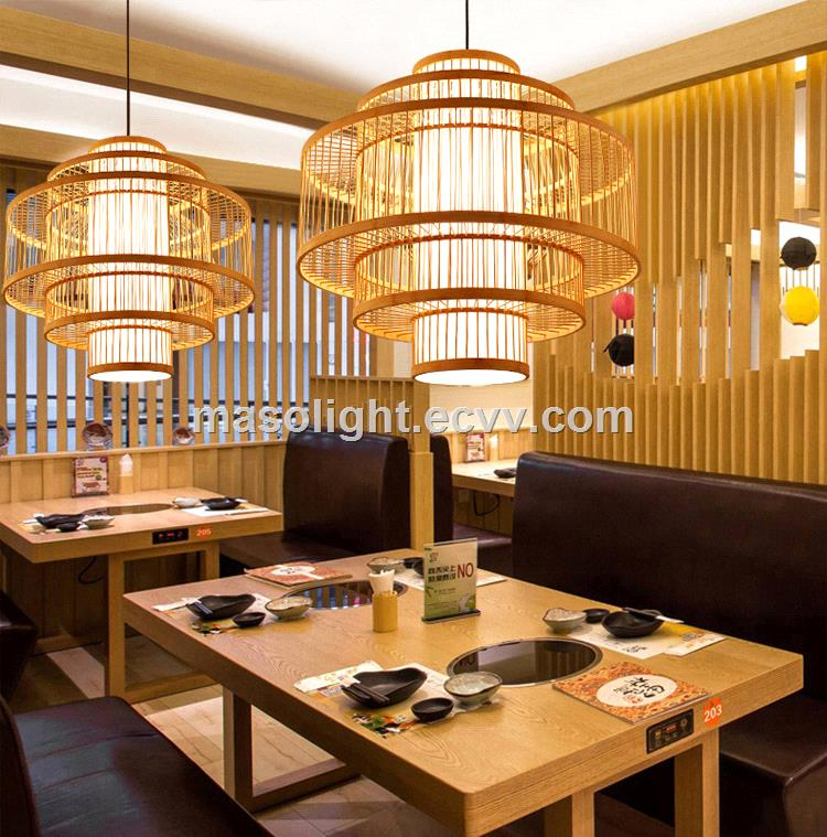 led lighting chandelier bamboo shape chinese restaurant hanging lights