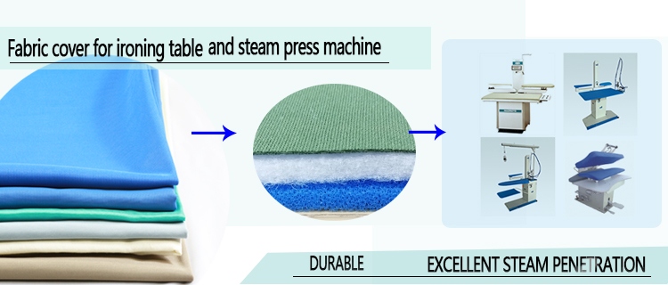 Original ironing fabric cover used for table ironing and steam pressing machine